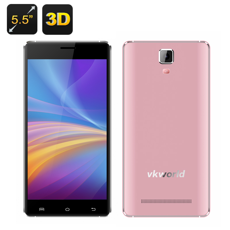 VKWorld Discovery S1 3D Smartphone (RoseGold)