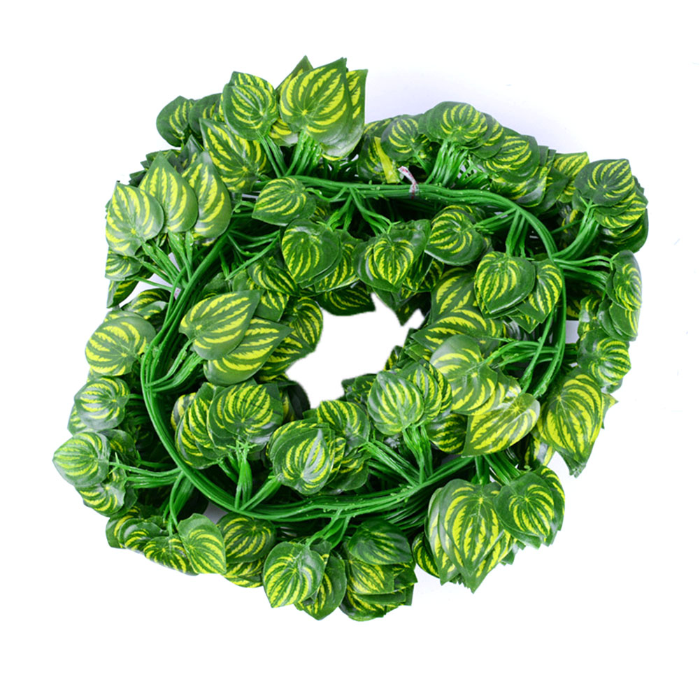 12Pcs Artificial Ivy Green Leaves Garland for Home Kitchen Garden Office Wedding Wall Decor Watermelon leaf