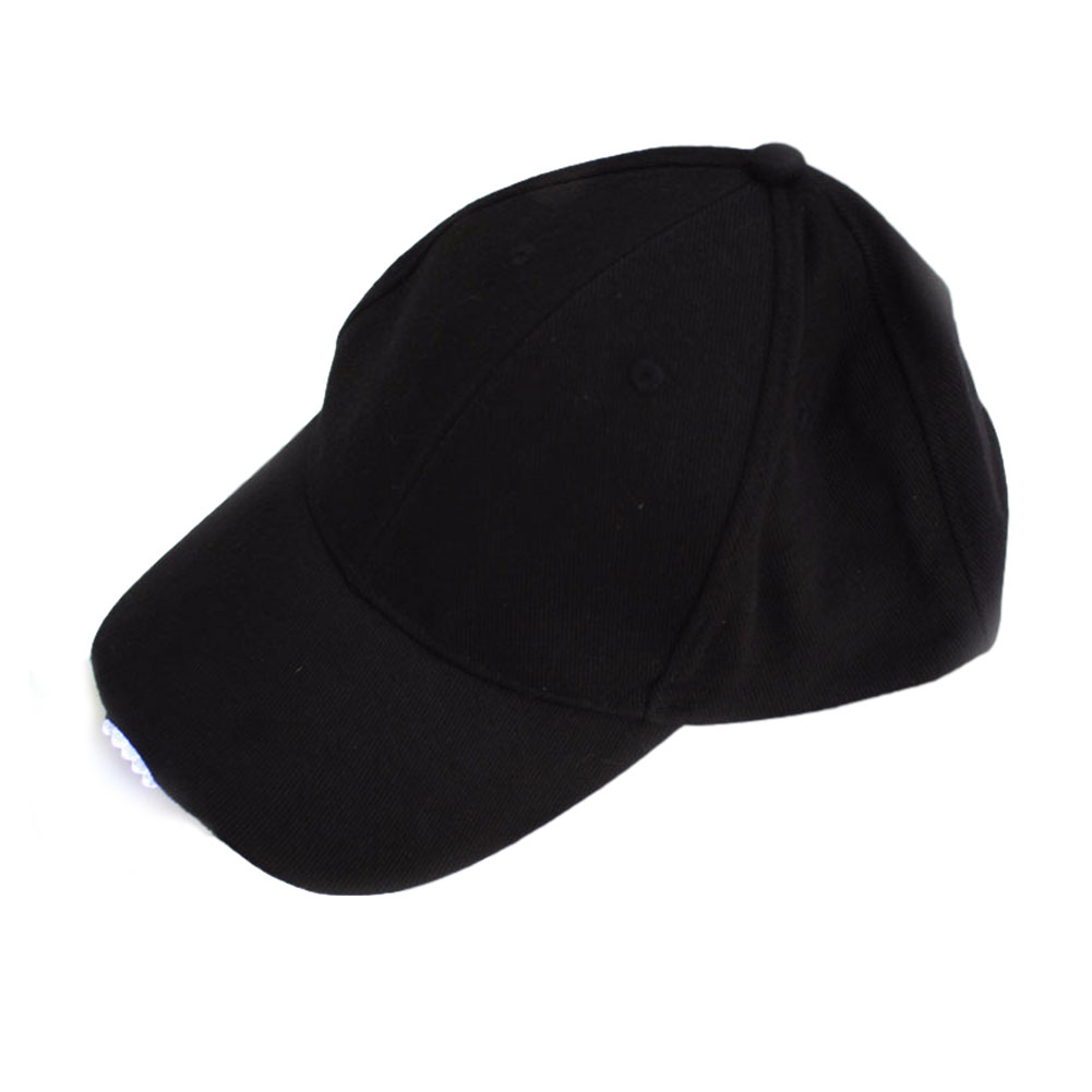 Adjustable Climbing 5 LED lamp Cap Battery Powered Hat With LED Light Flashlight For Fishing Jogging Baseball Cap black_Hat 5LED
