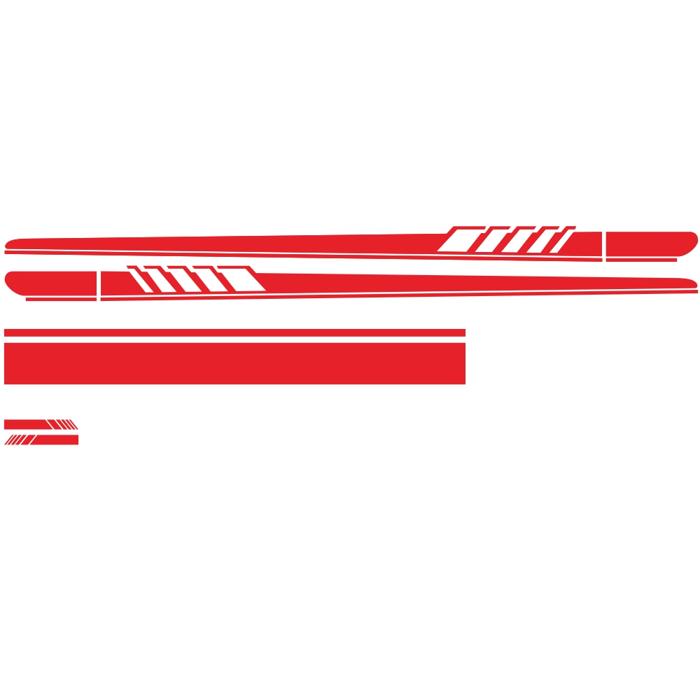 DIY Car Sticker Auto Body Decals Vinyl Side Long Stripe Waterproof Self Adhesive Stickers red
