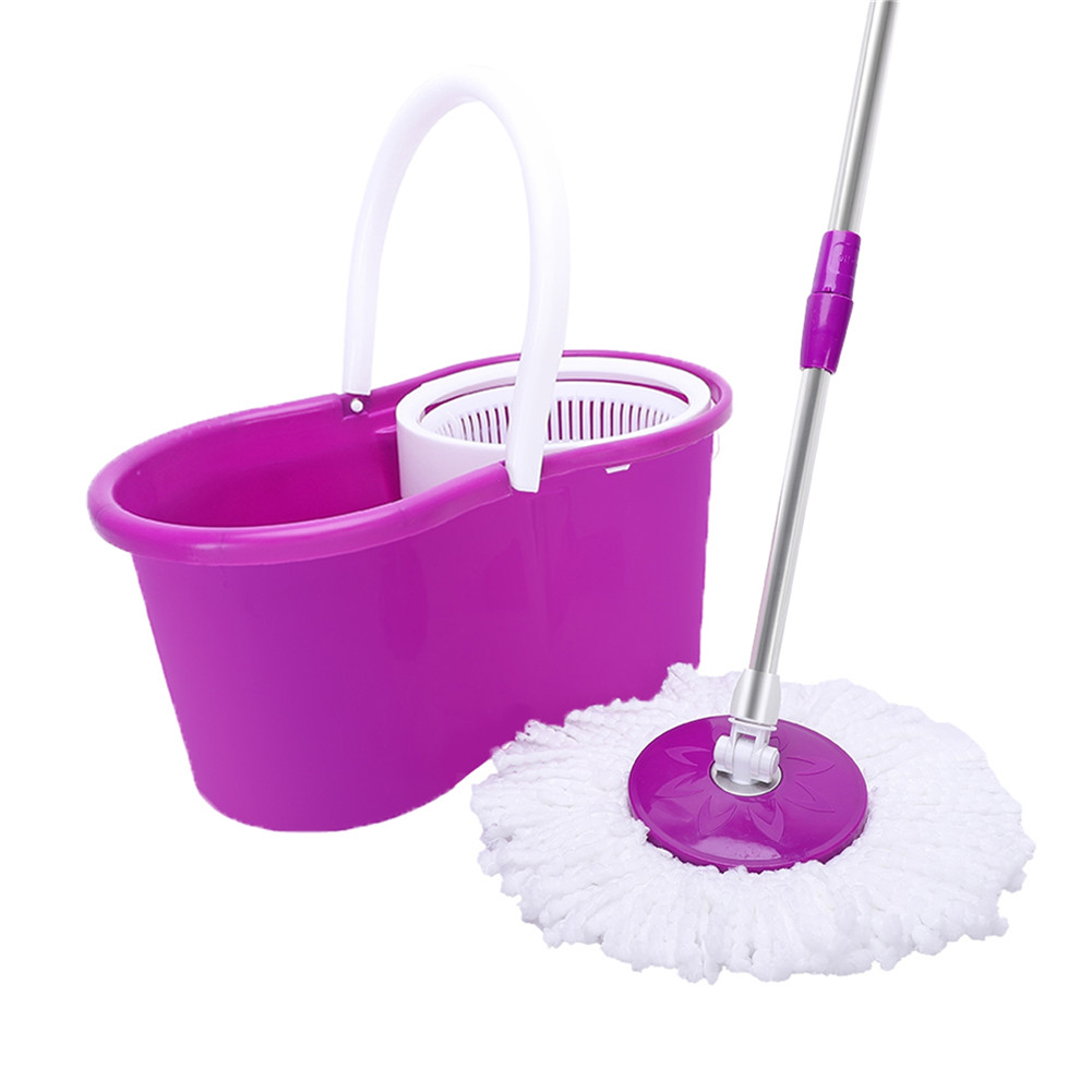 [US Direct] 19a Rotary Mop Spin Mop And Bucket System For Floor Cleaning Masthome Purple