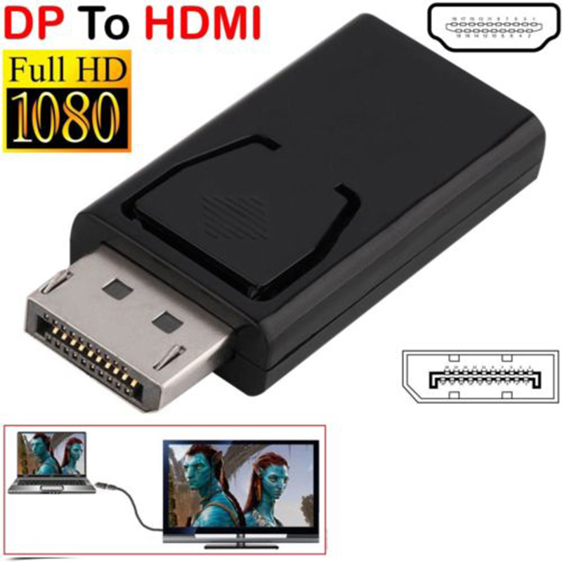 DP Male To HDMI Female Flat Adapter Converter