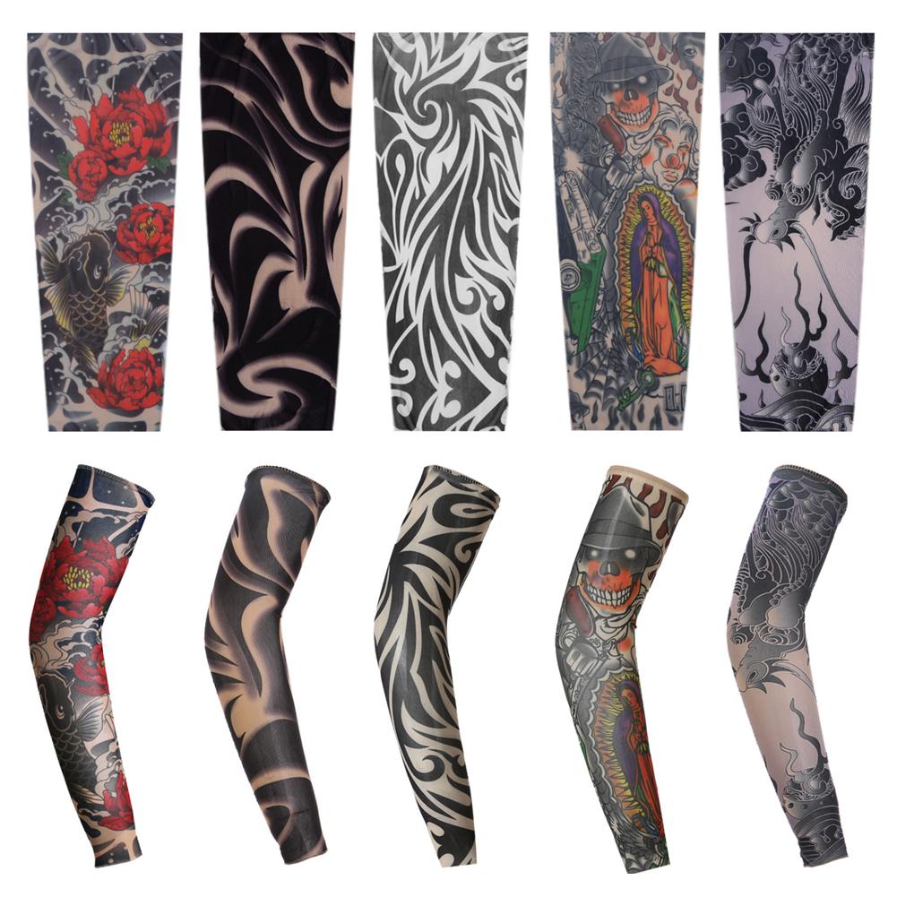 1PCS Sport Arm Sleeve Skin Protection Cover Tattoo Team Elastic Armband