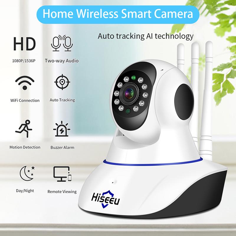 Hd Ip Wireless Camera Wifi Smart Home Security Camera Surveillance 2-way Audio Pet Camera Baby Monitor 3MP super definition +64G memory