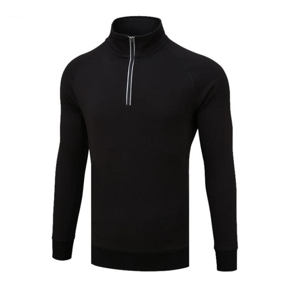Golf Autumn Winter Sweater Male High Collar Long Sleeve Simier Thicken Warm Clothes YF108 black plus blouse_XXL