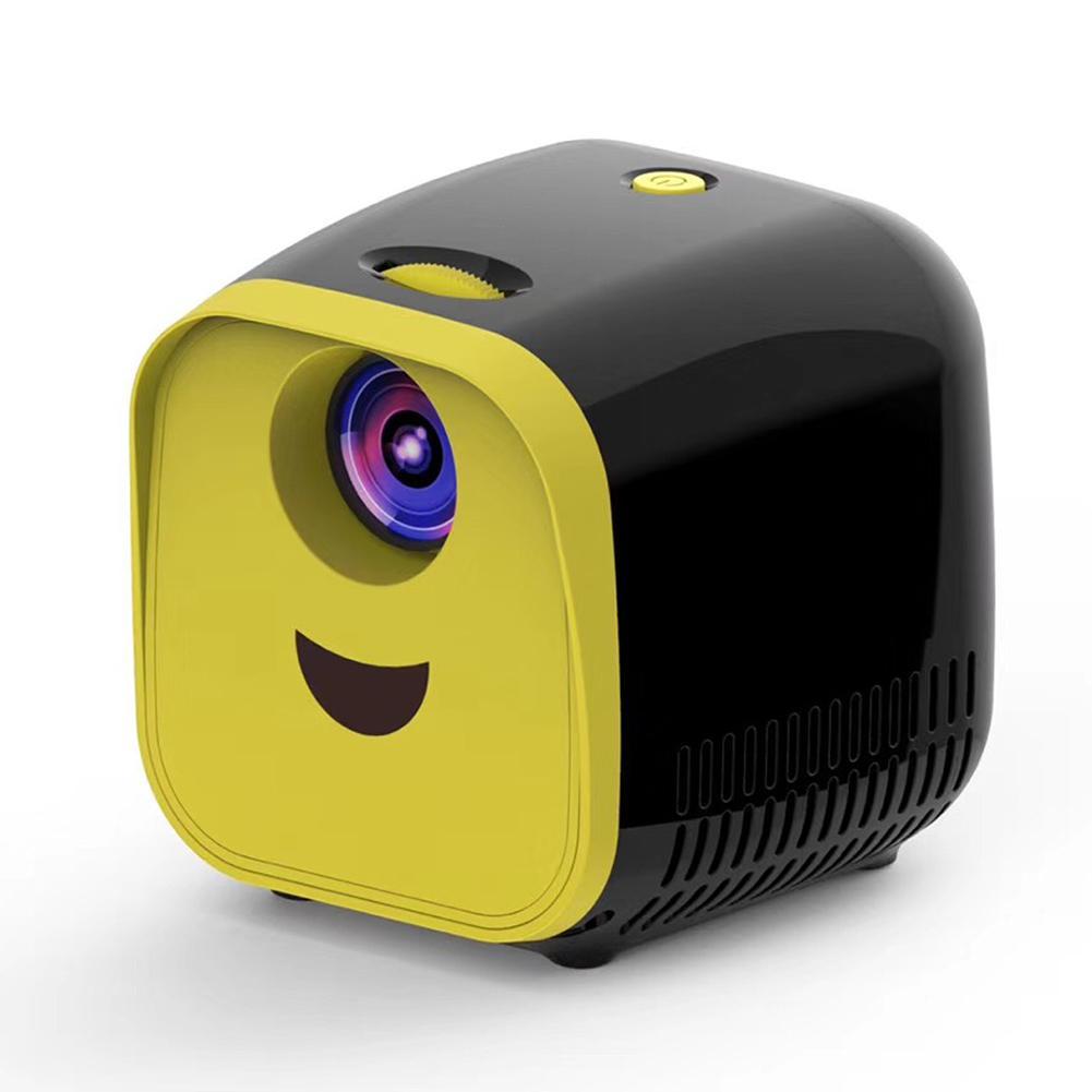 L1 Portable Mini Projector Support HD Home Theater Projectors HDMI USB Media Player Children Gift black_European regulations