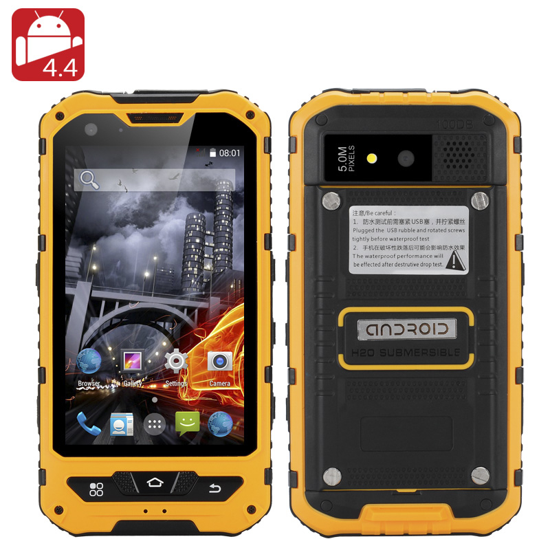 4 Inch Waterproof Rugged Smartphone (Yellow)