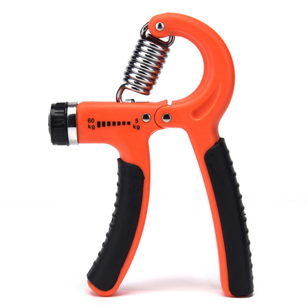 Adjustable Hand Grip Indoor Leisure Sports R-shape Strength Exercise with Counter Hand Strength Exercise Fitness Tool red