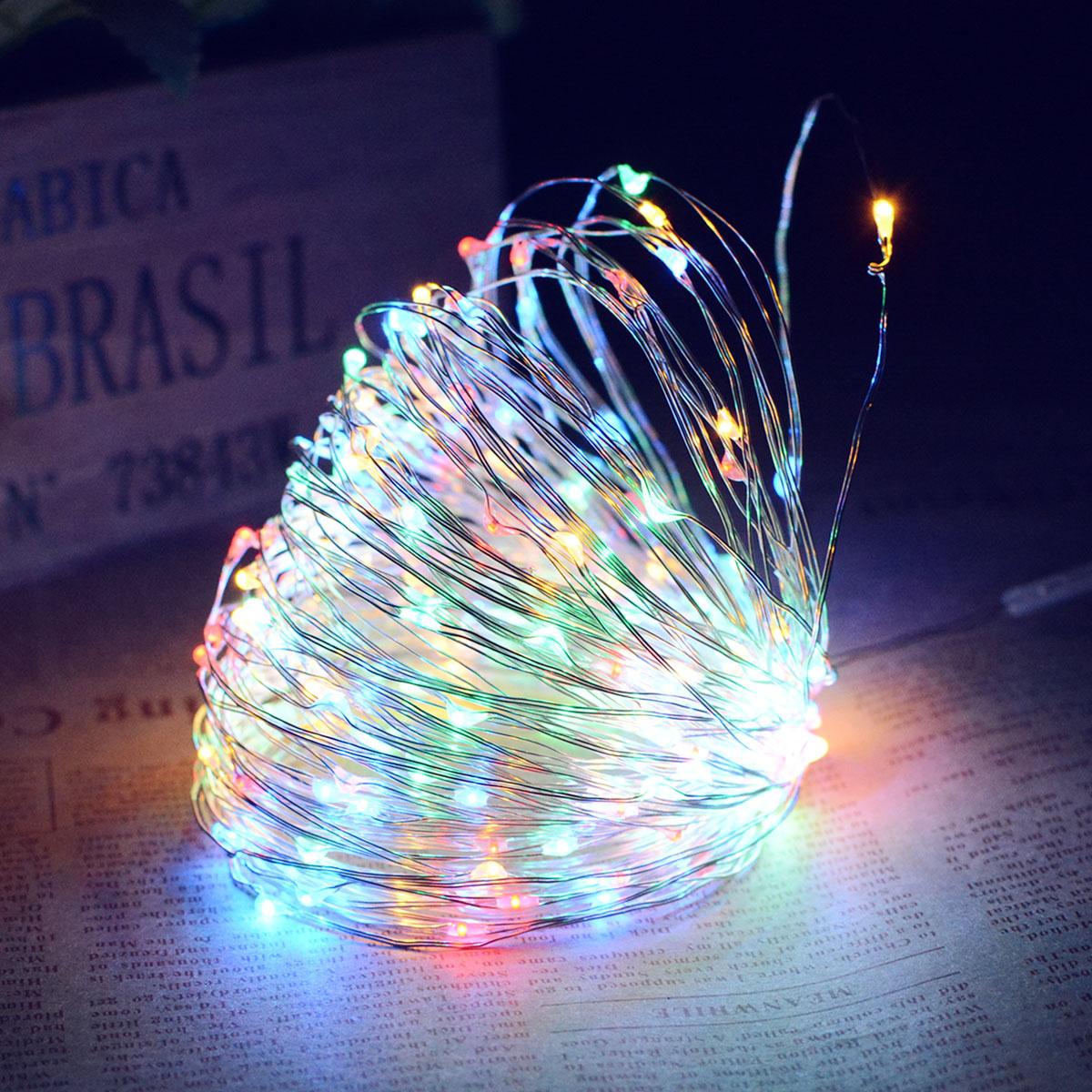 10M/20M 100LEDs/200LEDs Romanstic Solar Powered Copper Wire String Light Color light_20 meters 200 LED_(ME0004103)