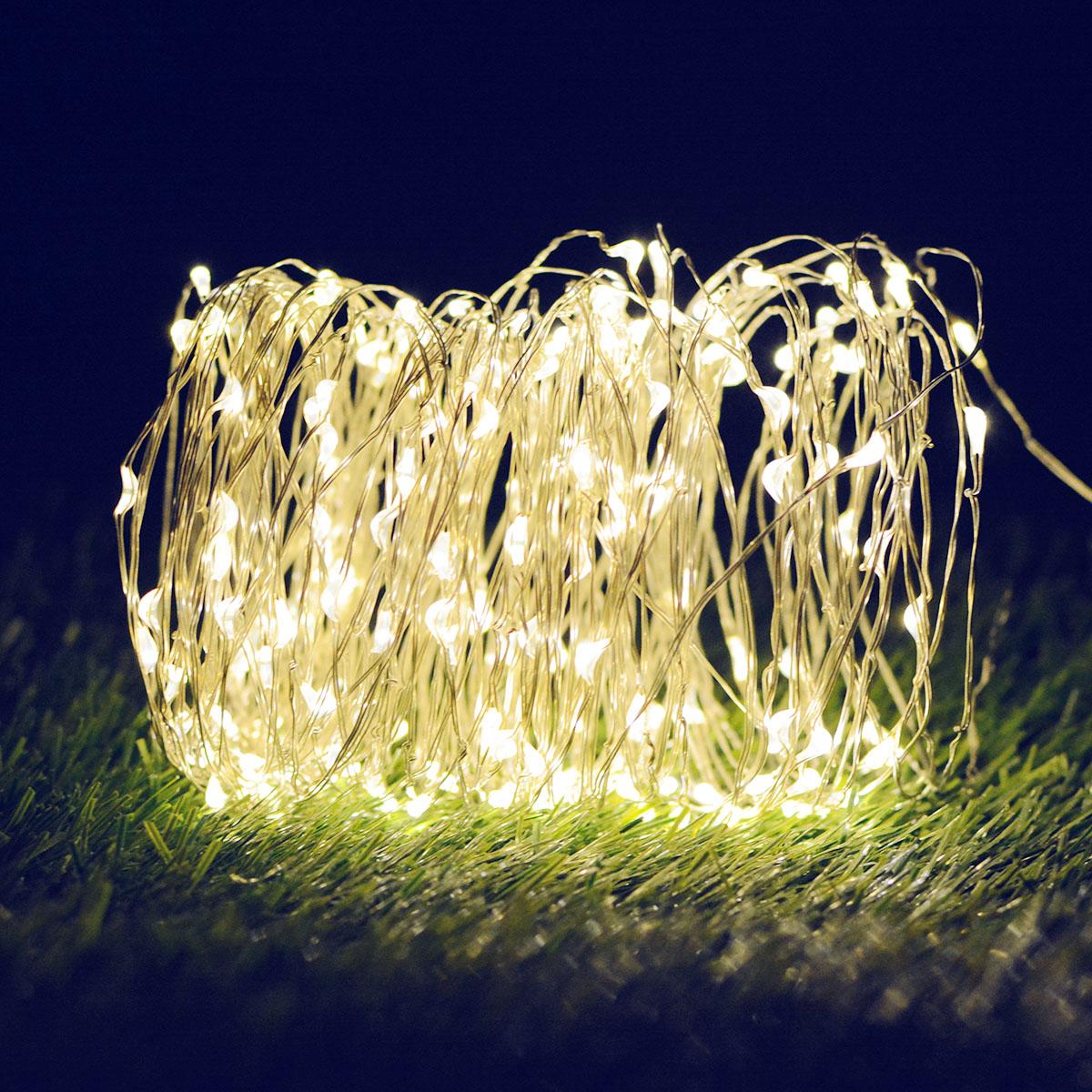 10M/20M 100LEDs/200LEDs Romanstic Solar Powered Copper Wire String Light warm light_20 meters 200 LED_(ME0004102)