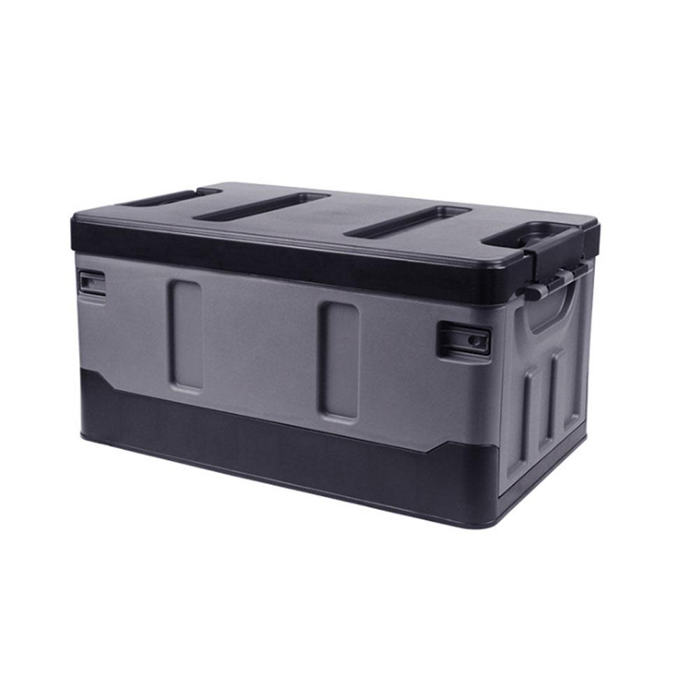 Car Organizer For Trunk Transporting Storage Camping Car Accessory Car Organizer Box Organizer Luggages Black_40L