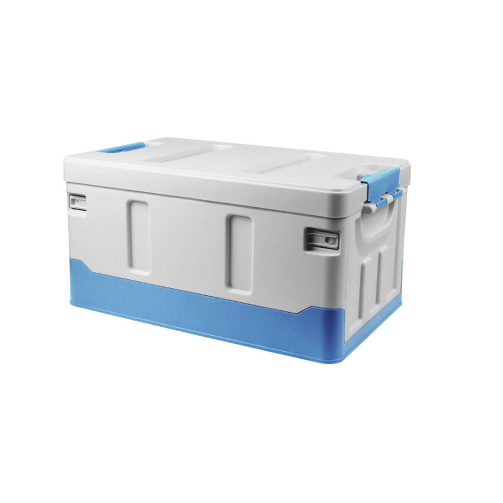 Car Organizer For Trunk Transporting Storage Camping Car Accessory Car Organizer Box Organizer Luggages Sky blue_40L