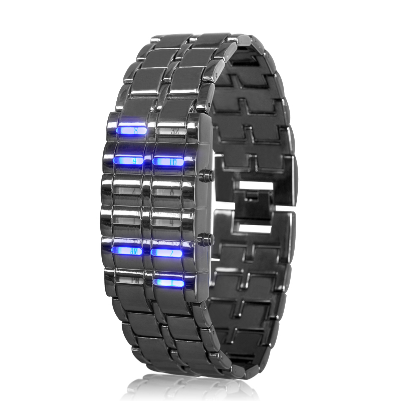Binary LED Watch - Blue Samurai