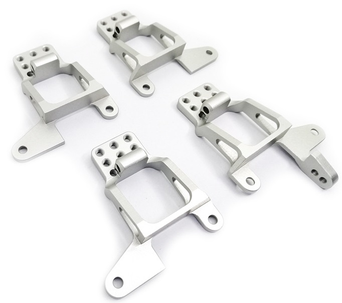 Aluminum Alloy Front Rear Shock Tower Hoops Bracket Mount for TRAXXAS TRX-4 RC Car Silver
