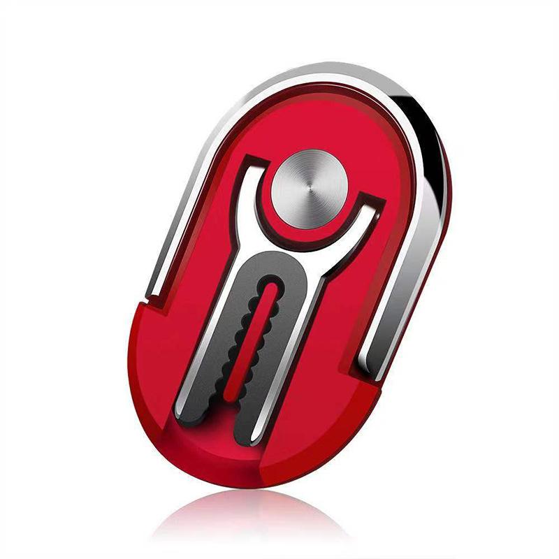 Multipurpose Mobile Phone Bracket Holder Rotation Stand Phone Ring Finger Kickstand  red