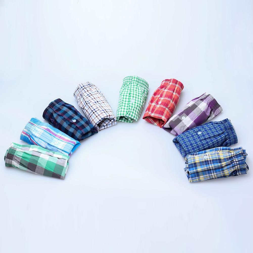 Men Full-cotton Loose Air-breathable Comfortable Large-Size Beach Shorts Home Pants (Random Color) Random color_L