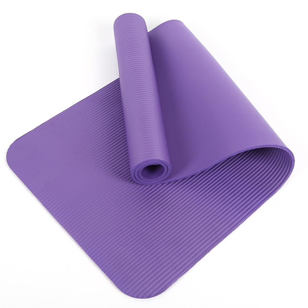 High Quality 1cm Anti-bacterial Non Toxic Anti Slip Soft Yoga Mat Gym Sports Home purple_183cm*61cm*10mm