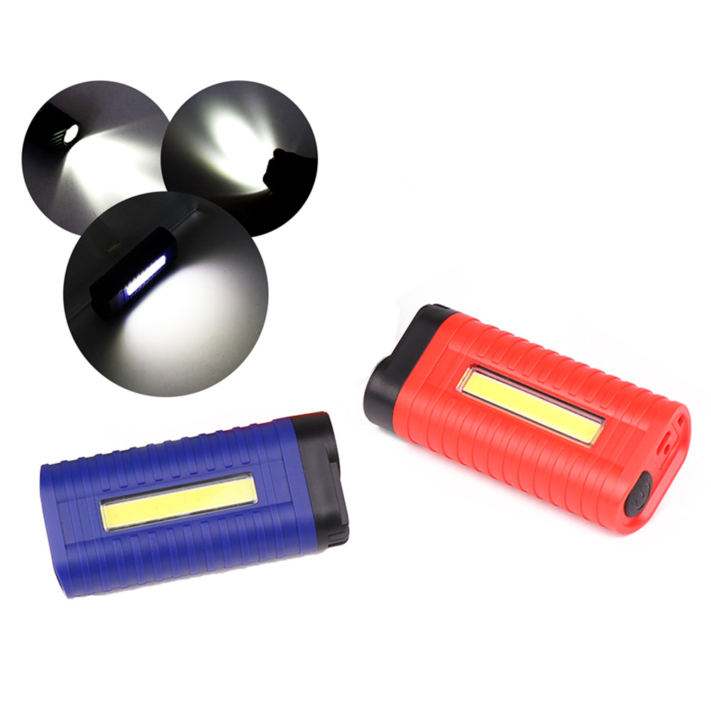 LED COB Working Light Mini Flashlight Emergency Lamp red