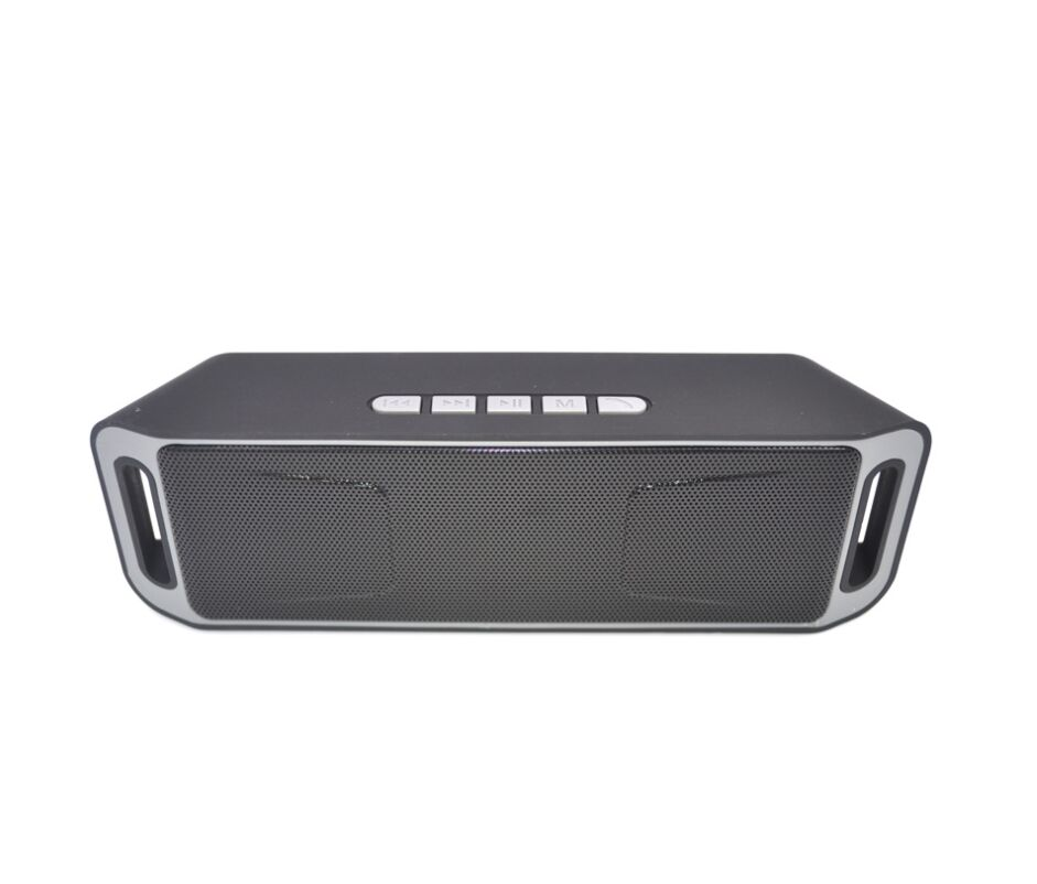 Wireless Bluetooth Speaker Column Stereo Subwoofer USB Speakers Built-in Mic Bass MP3 Player Sound Box Silver grey