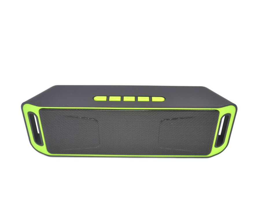 Wireless Bluetooth Speaker Column Stereo Subwoofer USB Speakers Built-in Mic Bass MP3 Player Sound Box green