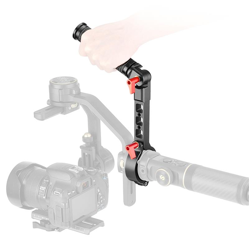 Sling Handle Grip Metal Adjustable Low-angle Shooting Accessories Stabilizer for Zhiyun Yunhe 2S  black