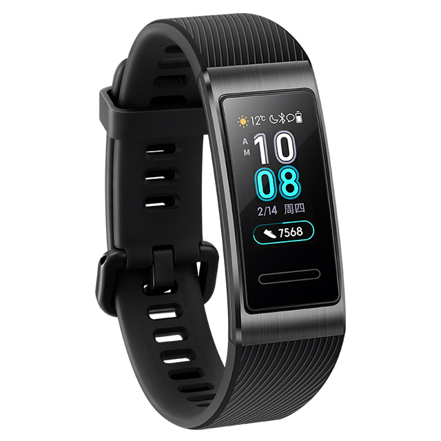 Original HUAWEI Band 3 Pro GPS Smart Band Metal Amoled 0.95' Full Color Touchscreen Swim Stroke Heart Rate Sensor Sleep Bracelet black