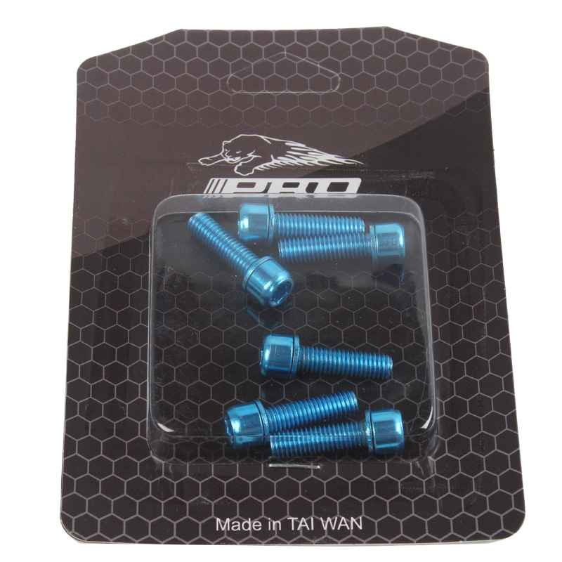 IIIPRO MTB Bicycle Handlebar Screws Titanium-plated Colorful Screws M5*18MM stem riser screws blue