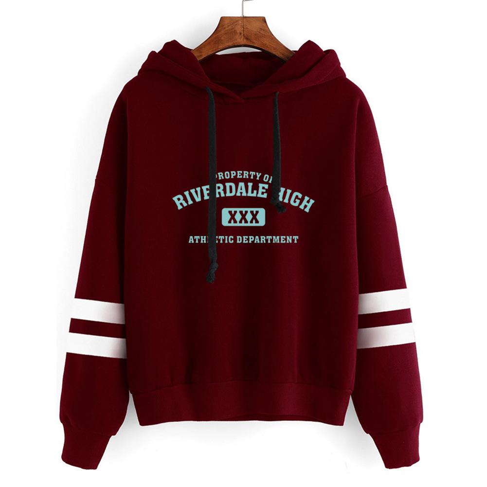 Men Women American Drama Riverdale Fleece Lined Thickening Hooded Sweater Gray A_L