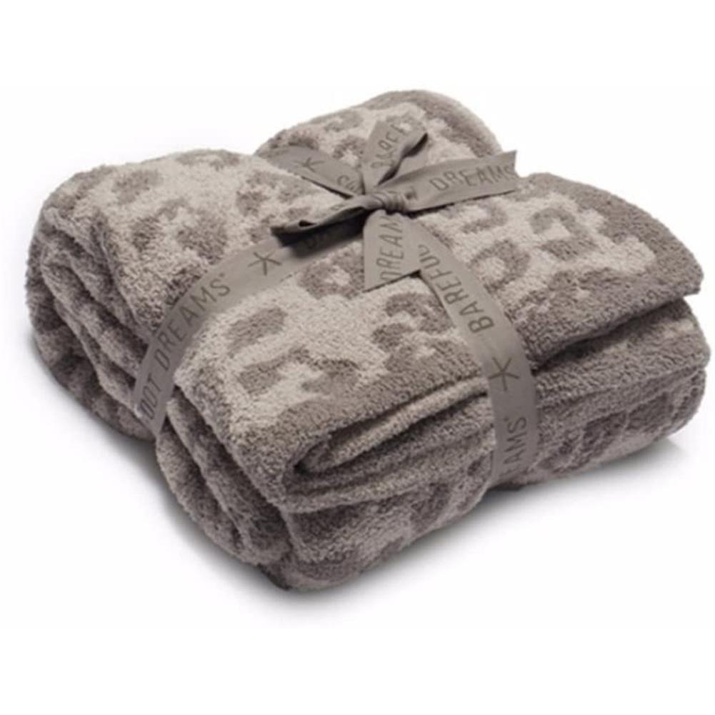 Leopard Print Throw  Blanket For Women Girls Teens Children Fleece Blanket For Bed Crib Couch khaki Leopard