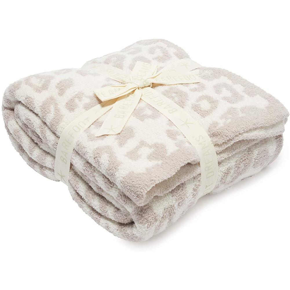 Leopard Print Throw  Blanket For Women Girls Teens Children Fleece Blanket For Bed Crib Couch beige leopard