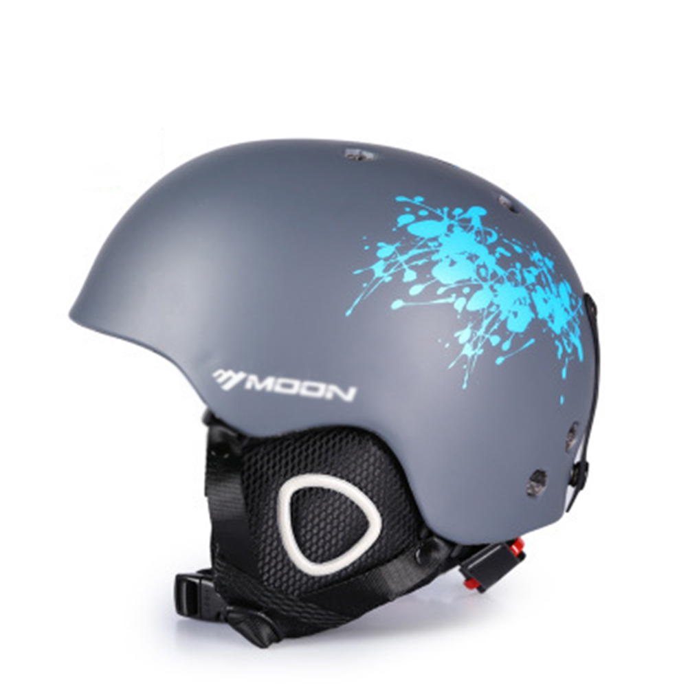 Ski Helmet Integrally-molded Skiing Helmet For Adult and Kids Snow Safety Skateboard Helmet  Gray ink_S