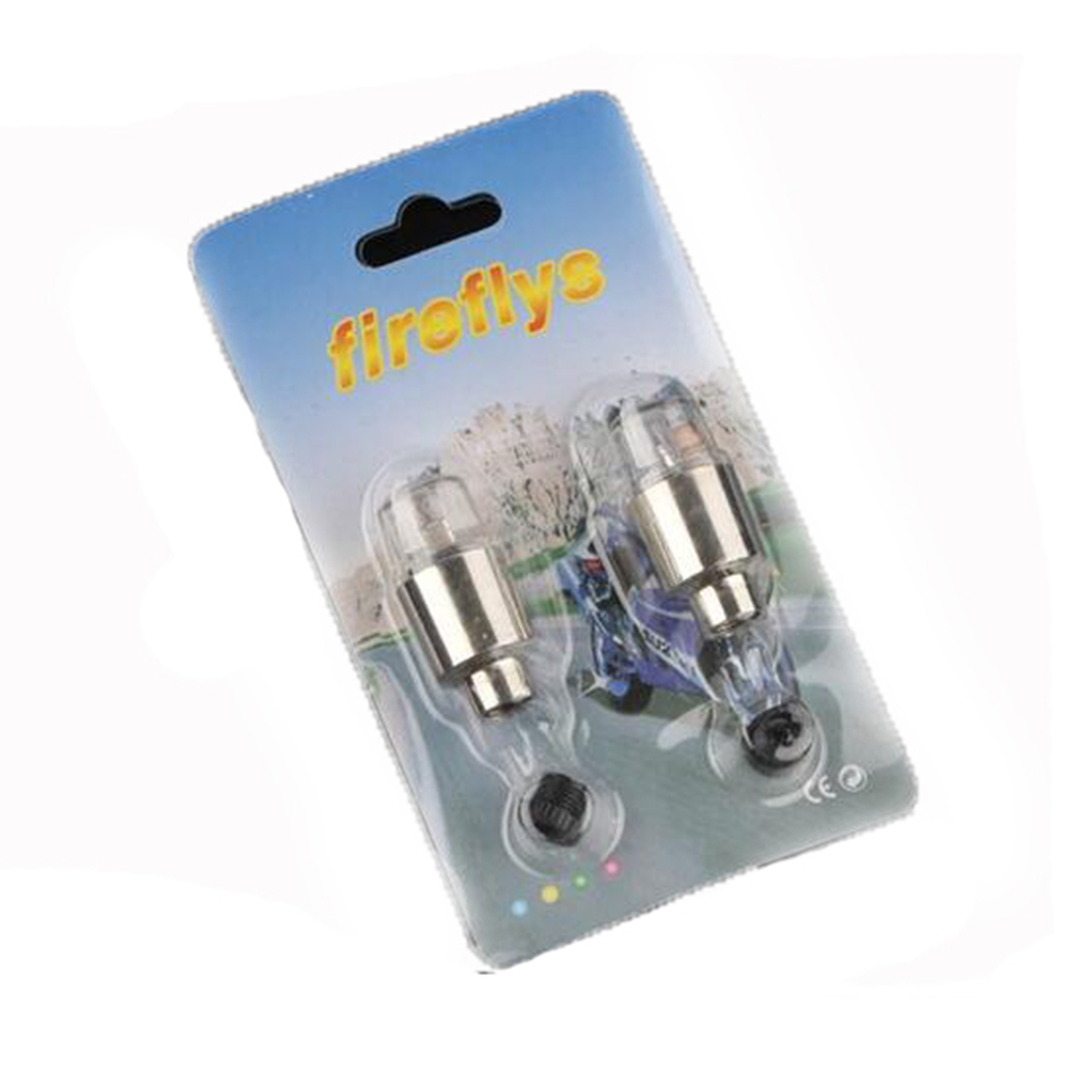 Car Motorcycle Bicycle Blue Photosensitive Tire Light Hot Wheels Gas Nozzle Valve Strobe Lights White light a pair