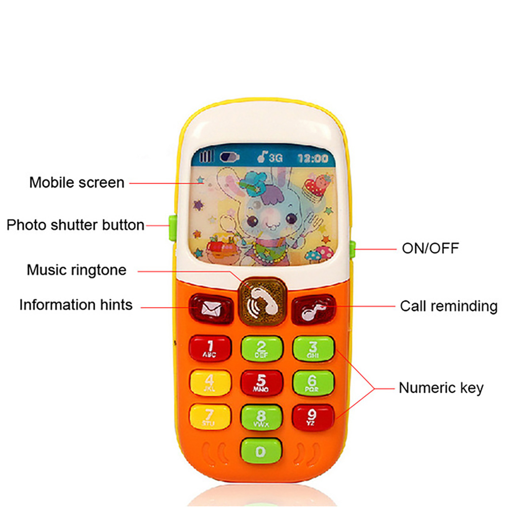 Children Music Mobile Phone 1-2 years old Parent-child Toy Phone with Sound and Light