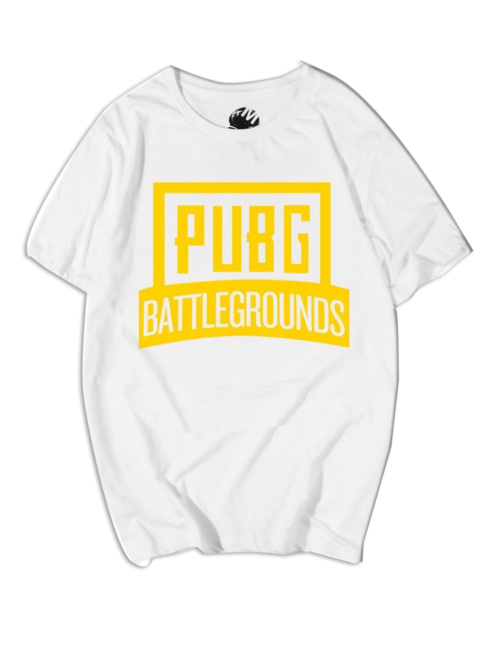 Men Fashion Round Neck Short Sleeve PUBG Game Cartoon Pattern T-shirt