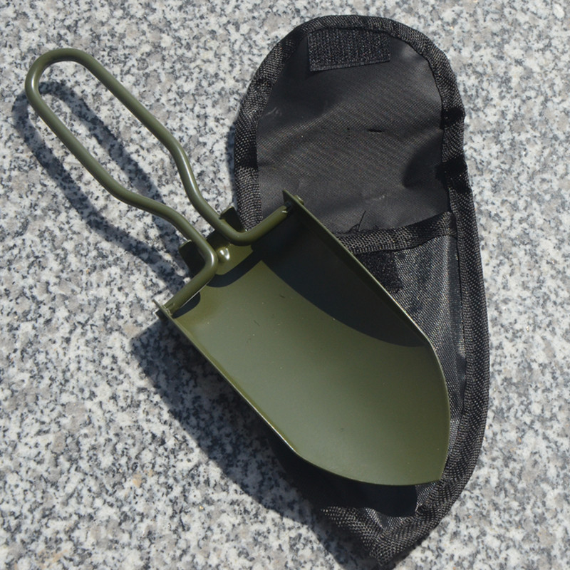 Garden  Tool Set Shovel With Folding Handle+cloth Bag Gardening Accessories Army Green