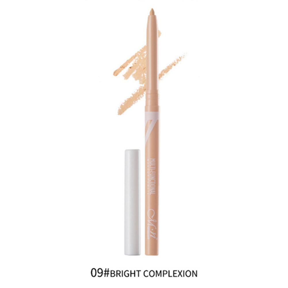 Eyeliner Pencil Eye Makeup Waterproof Lasting  White Eyeliner Eyeshadow Pen Eye Cosmetic Makeup 09Bright skin tone