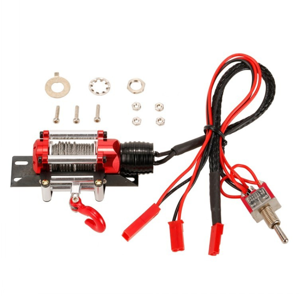 1/10 RC Rock Crawler Climbing Cars Electric Metal Winch For SCX10 D90 RC Parts Accessories