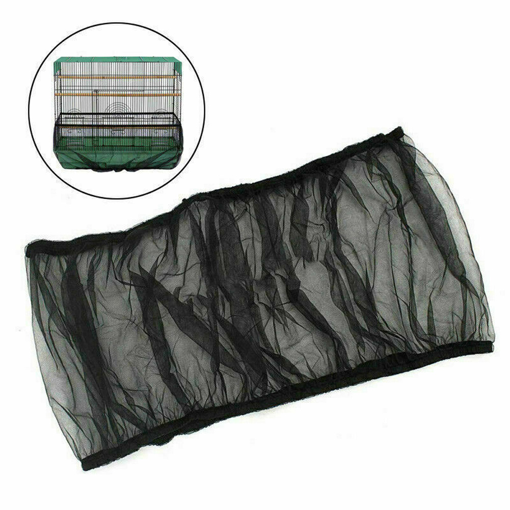 Mesh Dust Cover Cage Cover Stretchy Seed Catcher for Thrush Myna black_M