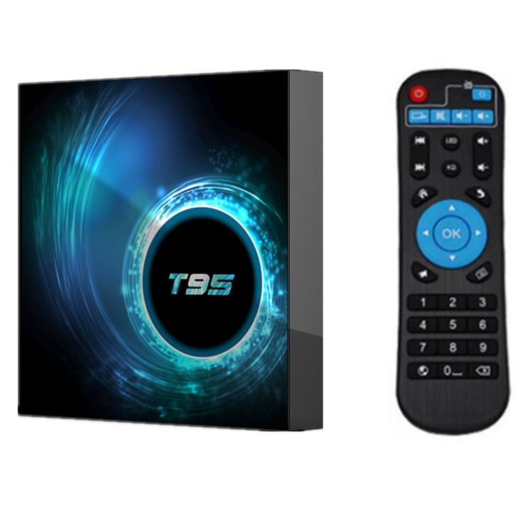 T95 TV Box Android 10 4GB 32GB 64GB Allwinner H616 Quad Core 1080P H.265 4K TVBOX 2GB 16GB Android 10.0 Set top box black_4GB + 64GB with G10 voice remote control