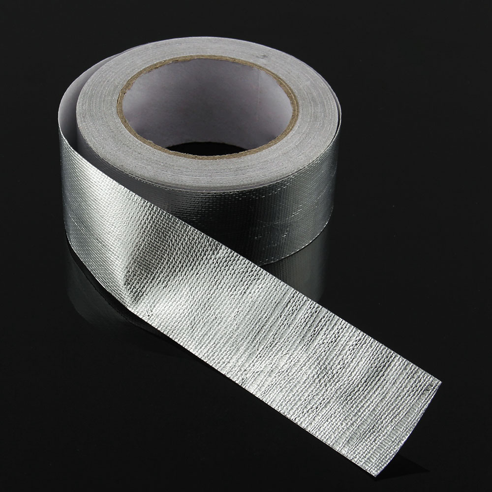 Fiberglass Exhaust Header Wrap Car Motorcycle Pipe Heat Protection Tape  Silver