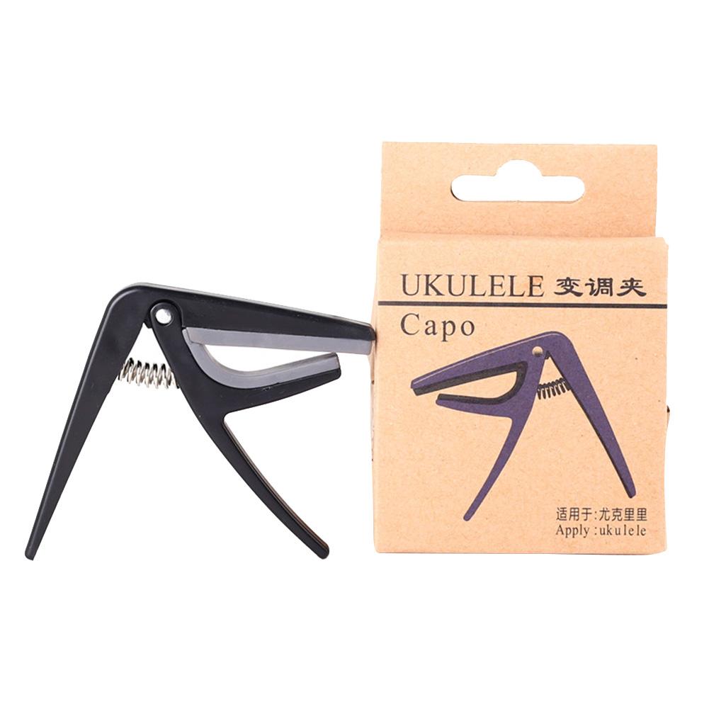 [Indonesia Direct] Professional Ukulele Capo Single-handed Quick Change Ukelele Capo Guitar Parts & Accessories black