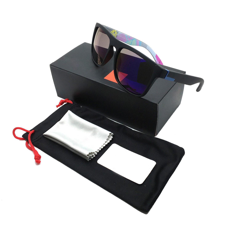 [Indonesia Direct] Stylish Men Women Outdoor Sunglasses UV400 Lightweight Clean Vision Sunglasses 5