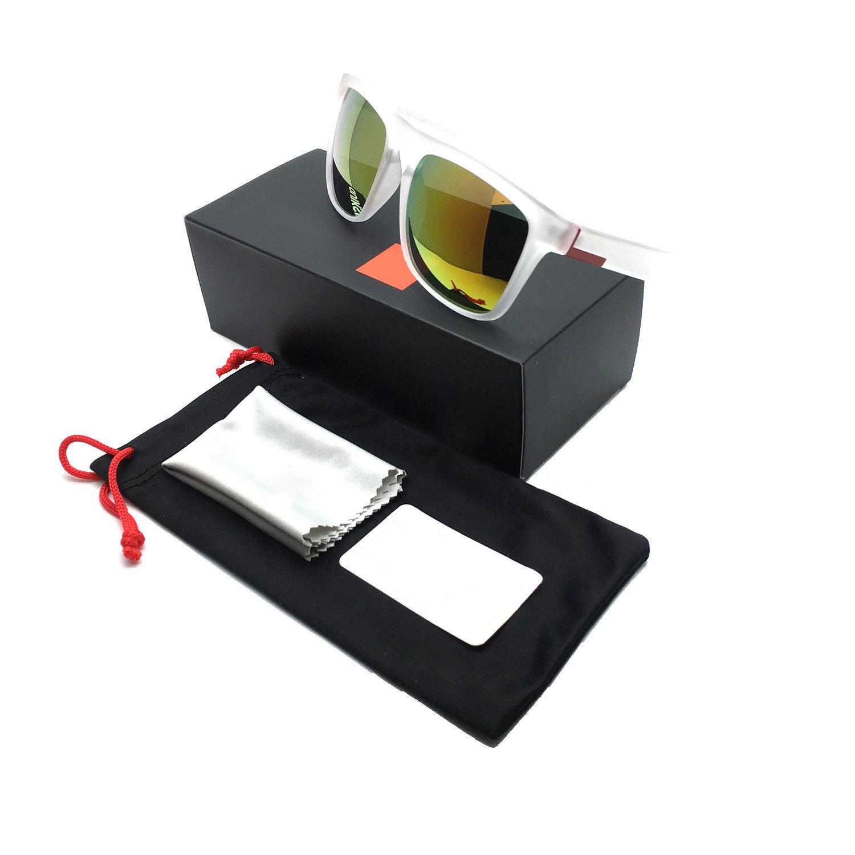 [Indonesia Direct] Stylish Men Women Outdoor Sunglasses UV400 Lightweight Clean Vision Sunglasses 8
