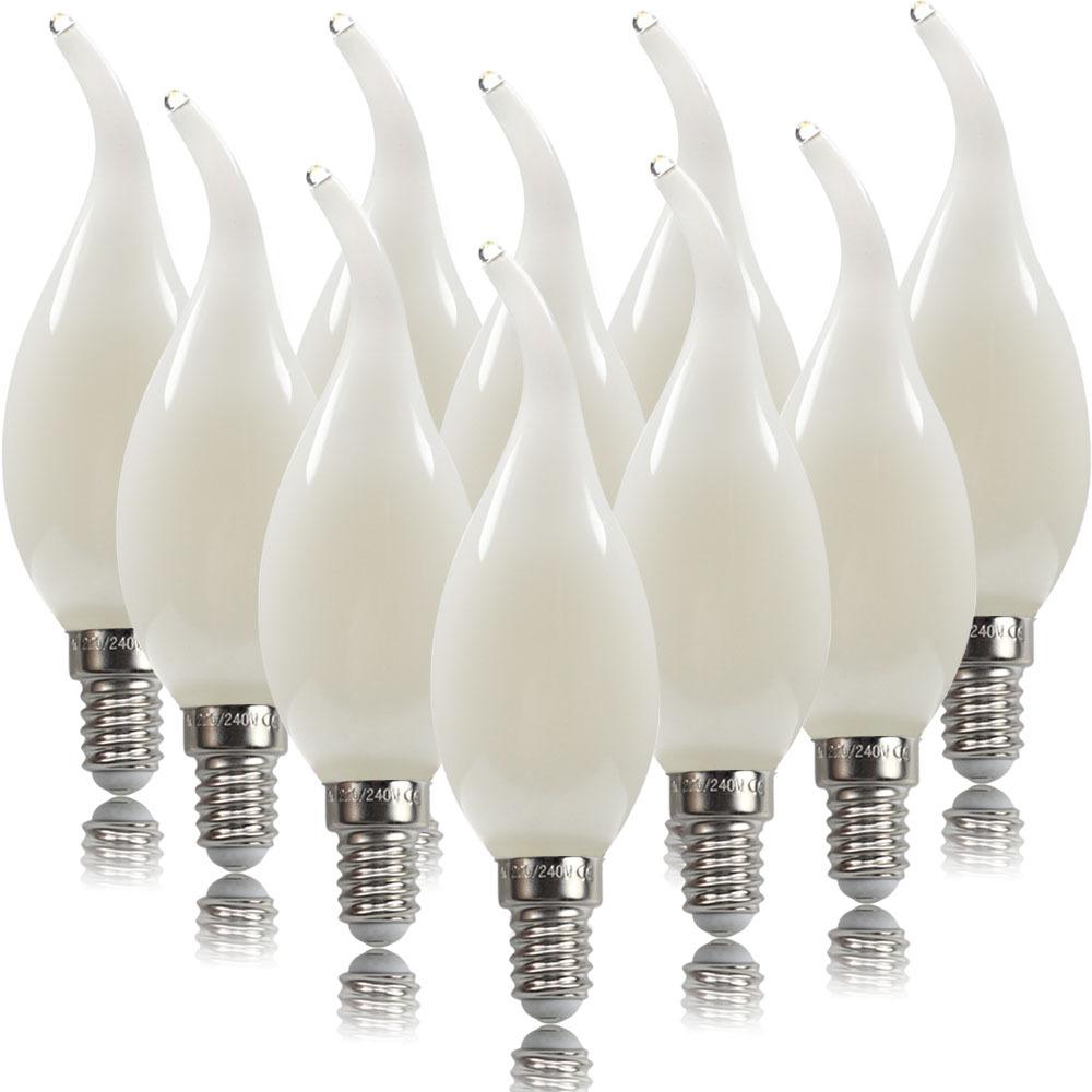 10Pcs C35 LED Candle Bulb Chandelier Lamp Decoration for Hotel Office E14 220V