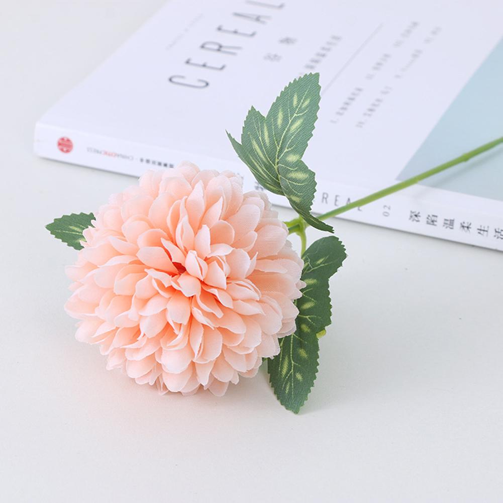 Silk Cloth Artificial Flower Ball Chrysanthemums Oranment Wedding Home  Decoration Champagne