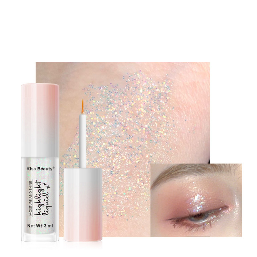 Liquid Diamond Pearlescent Color Waterproof Eye Shadow Liquid 4 colors 02 #