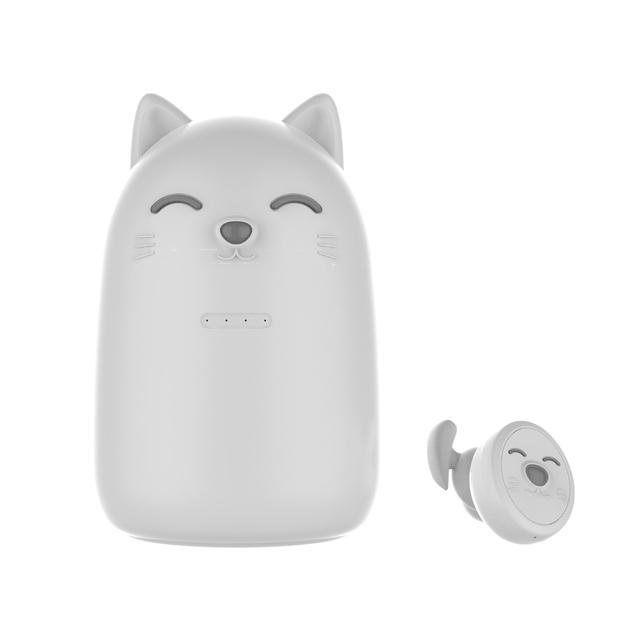 ZW-T12 Cute Cartoon Design Girl Student Wireless Bluetooth Headset Cute Tws Earphones White