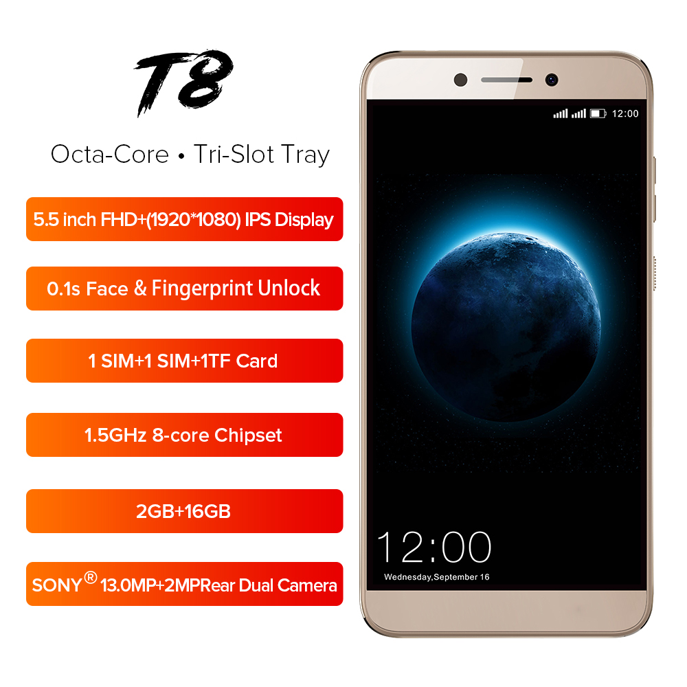 Wholesale Leagoo T8 4g Smartphone 5 5 Gold From China