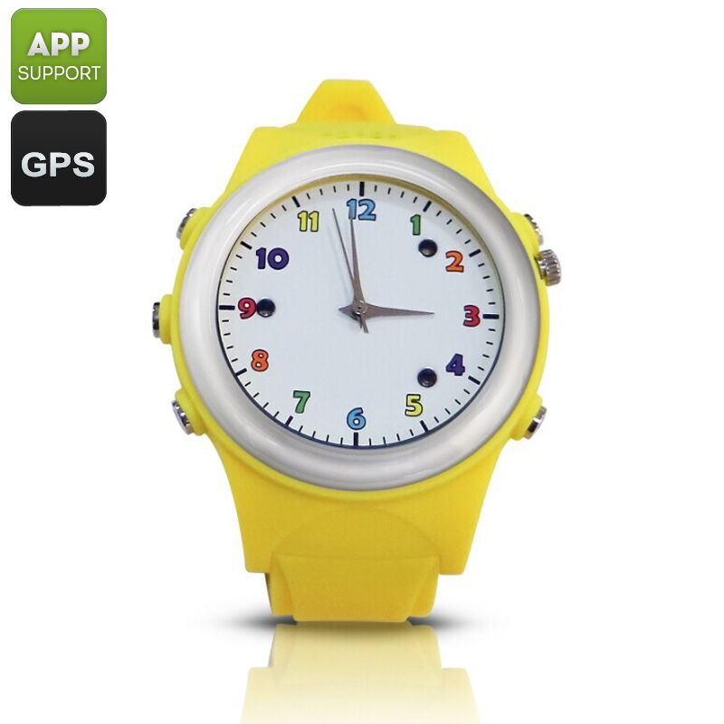 Kids Watch Phone With GPS Tracker (Yellow)