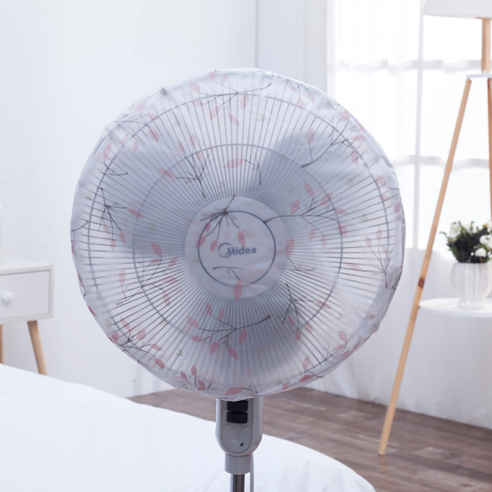 Round Electric Fan Cover for Kids Finger Protector Safety Cover Fan Guard Home Office Dust Cover Flowering branch